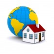 Worldwide Properties. 3d rendering on white background — Stock Photo #7397714
