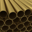 The group of non-ferrous alloy tubing — Stock Photo