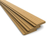 Three wooden boards on a white background — Stock Photo