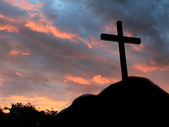 Cross on hill — Stock Photo