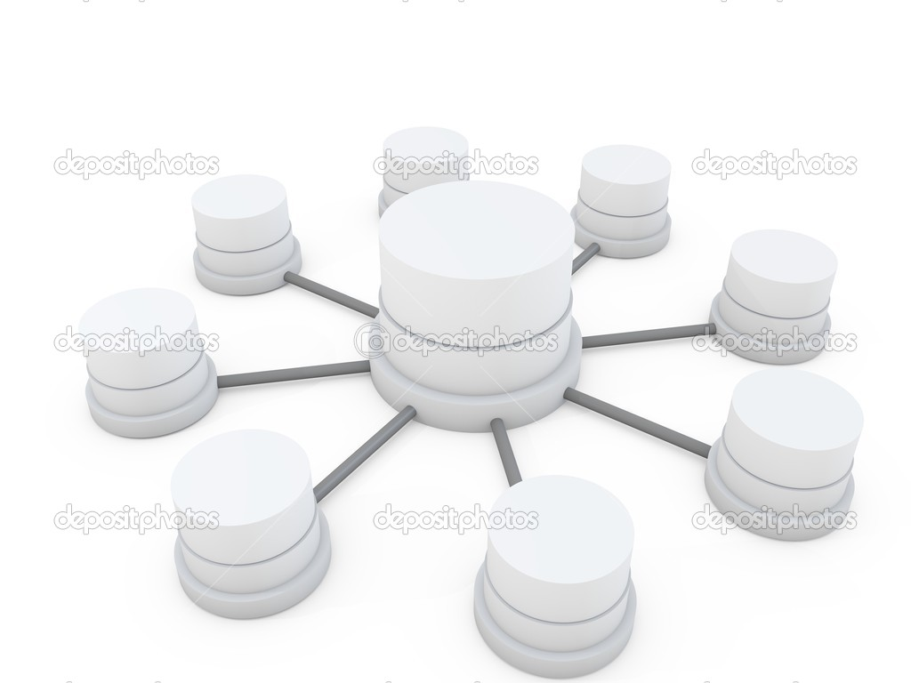 3d database structure — Stock Photo #7215434