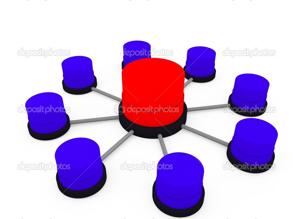 3d database structure — Stock Photo #7215437