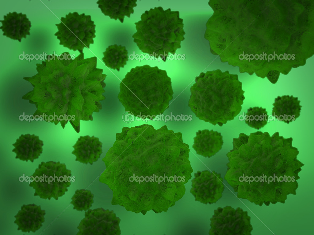 Bacterias ugly and unhealty — Stock Photo #7215500
