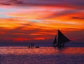 Sunset on the far east — Stock Photo