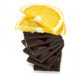 Royalty-Free Stock Photo: Chokolate bar with orange slice