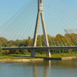 Modern bridge in Warsaw, Poland — Foto de stock #6876390