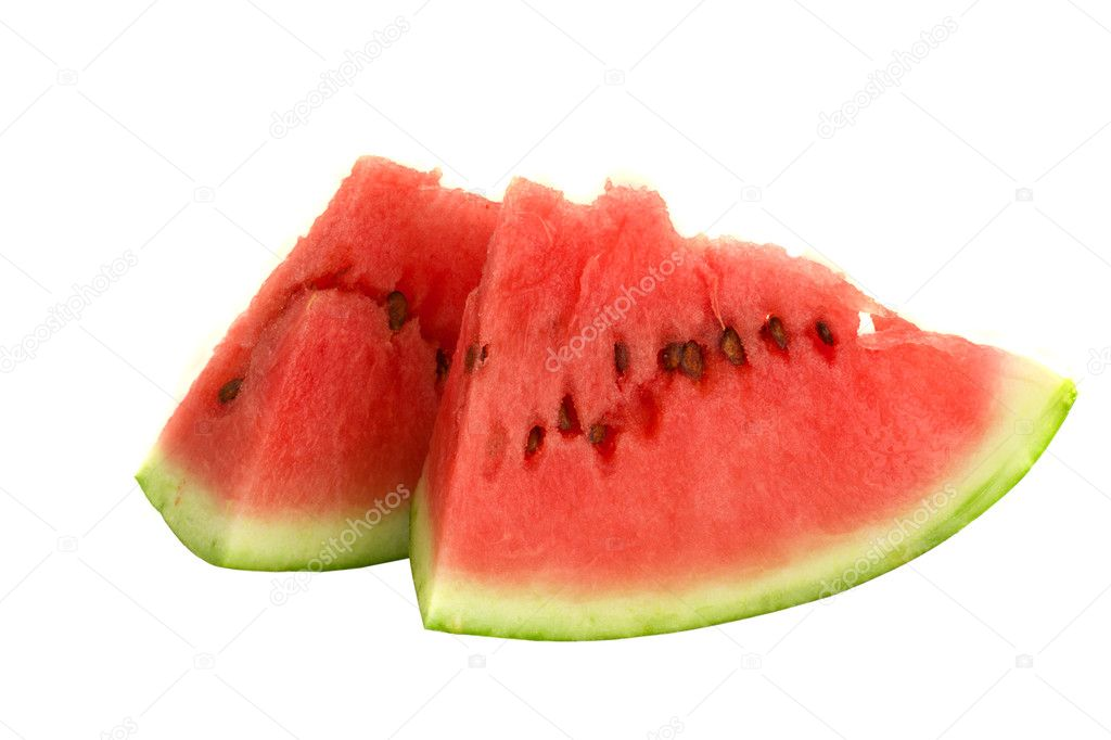 Slices of watermelon isolated on white background — Stock Photo #6874319