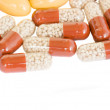 Colorful pills border — Stock Photo #7053883