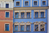 Ville de maisons windows, lublin, pologne — Photo