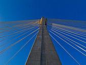 Modern bridge Swietokrzyski, Warsaw , Poland — Stock Photo
