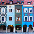 Houses of old Poznan, Poland — Stock Photo