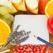 Blank notebook for recipes — Stock Photo #7798293