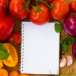 Blank notebook for recipes — Stock Photo