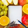 Blank notebook for recipes — Stock Photo #7807045