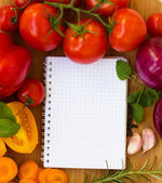 Caderno em branco para receitas — Foto Stock