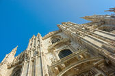 Facade of cathedral of Milan, Italy — Stock Photo