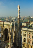 Spires of Milan cathedral — Stock Photo