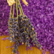 Lavender with bath salt - Stock Photo