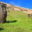 Buried Moai on Easter Island — Stock Photo