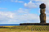 Solitary Moai on Easter Island — Stock Photo