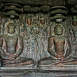 Buddhist statue in Ellora Caves — Stock Photo