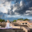 Royalty-Free Stock Photo: Urban Yoga meditation at mountains
