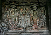 Buddhist statue in Ellora Caves — Fotografia Stock