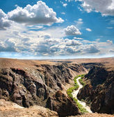 Charyn canyon river in Kazakhstan — Stock Photo