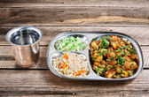 Complex Indian lunch Mutter paneer — Stock Photo