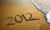 2012 year on the beach — Stock Photo