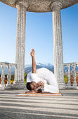 Incredible Yoga advance pose — Stock Photo