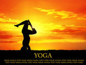 Yoga silhouette shirshasana pose — Stock Photo