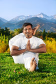 Yoga Advance pose in mountains — Stock Photo