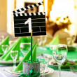 Stock Photo: Wedding table in Movie style
