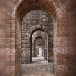 Royalty-Free Stock Photo: Basilica of Bom Jesus corridor