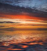 海景观。日落 — 图库照片
