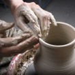 Potter on the potters wheel — Stock Photo #7900407