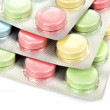 Color tablets in packing — Stock Photo #7902275