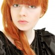 Beautiful girl with red hair — Stock Photo