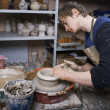Potter on the potters wheel — Stock Photo #7937339