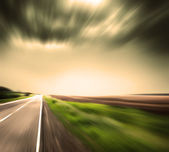Blurred Road with blurred sky — Foto de Stock