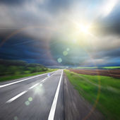 Blured road and sky — Stock Photo