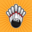 Royalty-Free Stock Vektorfiler: Bowling Ball Design Element Set 2