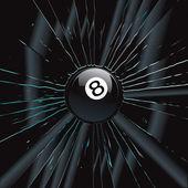 Broken Glass 2 8 Ball — Stock Vector
