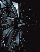 Broken Glass Black 1 — Stock Vector