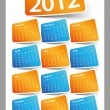 Stock Vector: Calendar Design 2012