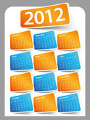 Calendar Design 2012 — Stock Vector