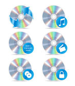 CD icon set 3 — Stock Vector