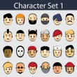 Stock Vector: Character Icon Set 1