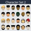Royalty-Free Stock Vektorfiler: Character Icon Set 2